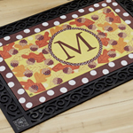 Fall Follies Monogram MatMates Doormat