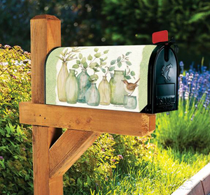 Eucalyptus Vases MailWraps Magnetic Mailbox Cover